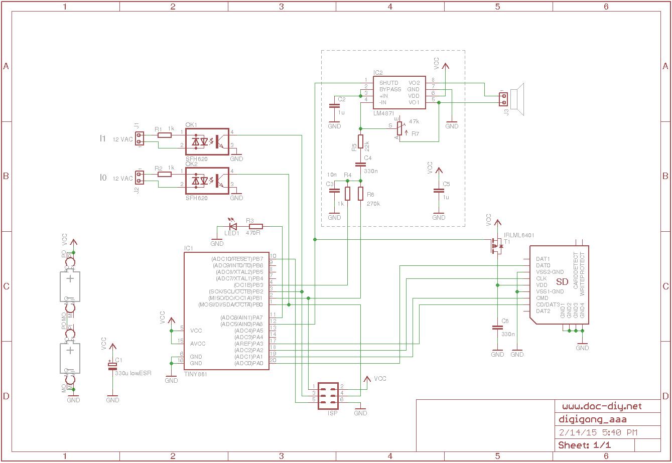 Digigong The Digital Door Bell Ding Dong Circuit Schematics